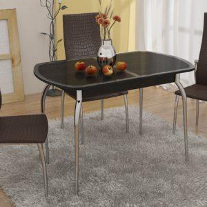 Стол обеденный раздвижной с хромированными ножками «Ницца»