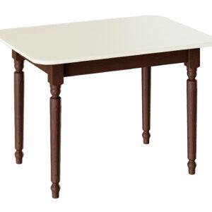 Стол обеденный «Валенсия» Тип 1 (Орех темный/Слоновая кость)