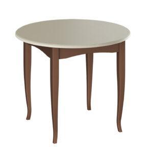 Стол обеденный «Мемфис» Тип 1 ( Орех темный/Слоновая кость)