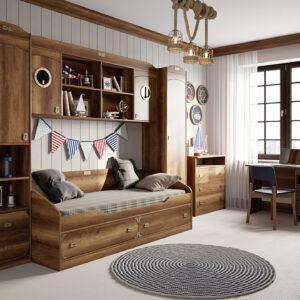 Набор детской мебели «Навигатор» №3 (Дуб Каньон)