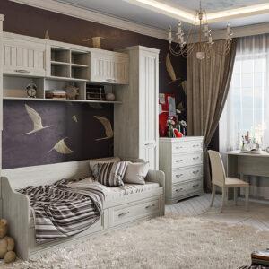 Набор детской мебели «Кантри» №2 (Винтерберг)