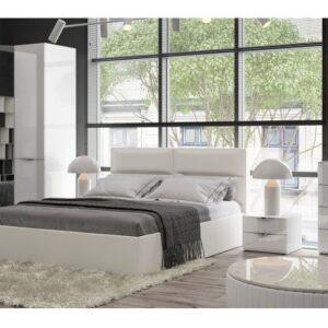 Спальный гарнитур «Глосс» №3 (Белый глянец)