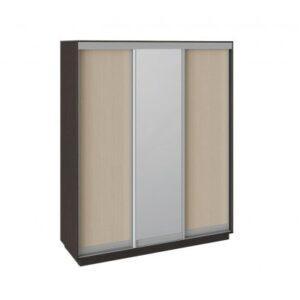 Шкаф-купе 3-х дверный «Румер» (Венге, Дуб молочный/Зеркало/Дуб молочный)