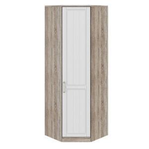 Шкаф угловой с 1-ой дверью правый «Прованс» (Дуб Сонома трюфель/Крем)