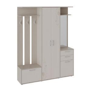 Набор мебели для прихожей «Витра» Тип 2 (Ясень шимо/Бежевый фон глянец с рисунком)